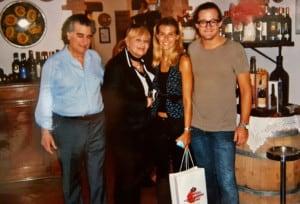 Michele Guittari, moglie e Brando de Sica